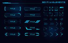 Set Of Sci Fi Modern User Inte...