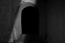 Black And White With High Key Photography, Tunnel