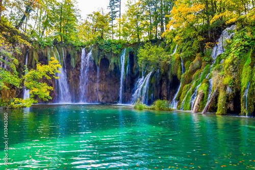 Fototapety, obrazy: Waterfalls in Plitvice Lakes National Park, Croatia