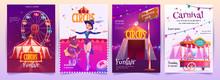 Circus Show Placards Set. Amus...