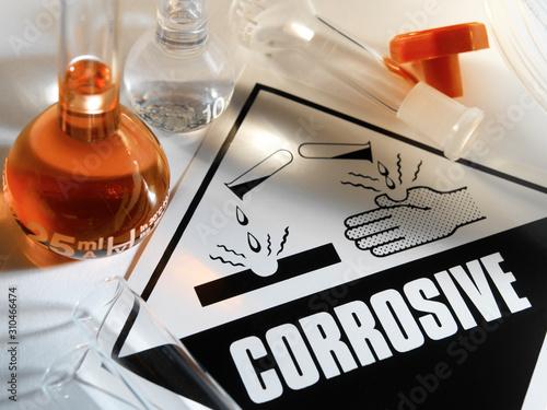 Fototapeta  Corrosive Warning Sign