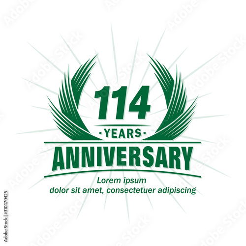 Fotografia  114 years logo design template