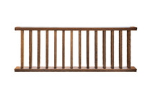 Dark Brown Wooden Railing Isolated On White Background