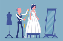 Wedding Dress Fitting, Alterat...