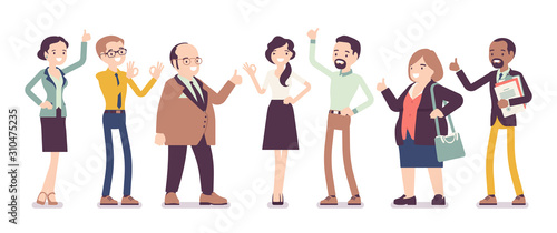 Recommendation and approval by different business workers Wallpaper Mural