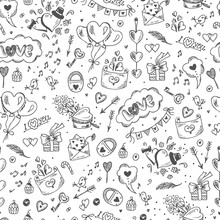Love Symbols Seamless Pattern....