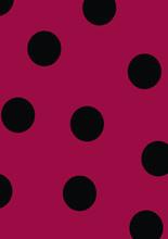 Polka Dot Seamless Pattern, Polkadot Red Black Background Illustration. Ladybug Pattern. Seamless Vector, Pop-art Background. Digital Paper For Scrapbooking