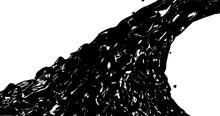Abstract Black Flow . Oil Flui...
