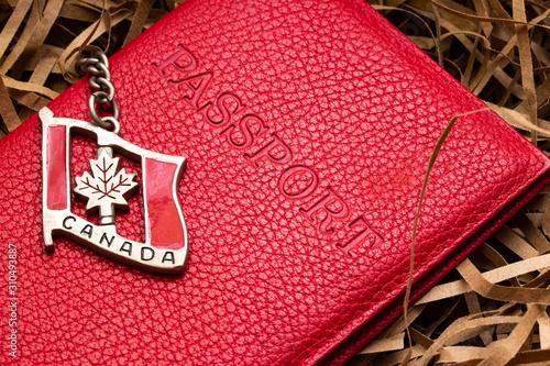 Canada citizenship passport concept Fototapet