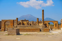 Ancient City Pompeii With Arch...