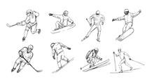 Winter Sports. Snowboarder, Sk...
