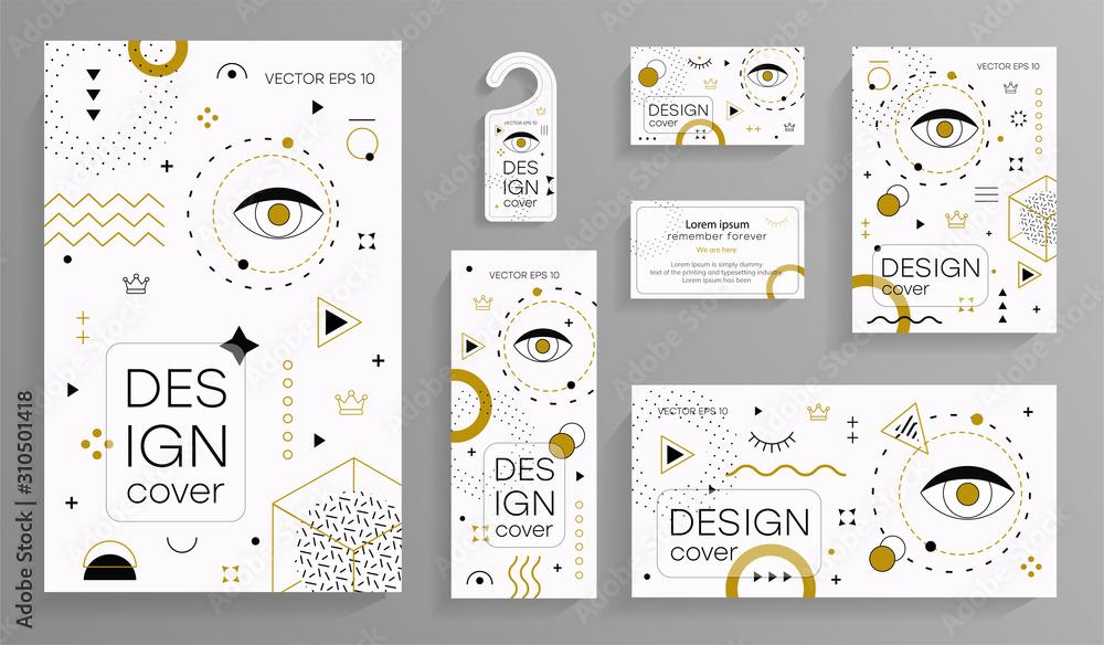 Fototapeta Memphis design elements. Retro funky graphic, 90s trends designs and vintage geometric print illustration element. Constructivism memphis vector isolated symbols collection. Vector EPS 10