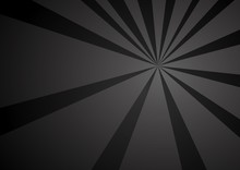 Black Ray Vector Background Illustration