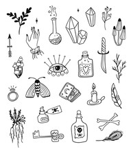 Hand Drawn Magic Set, Witchcra...