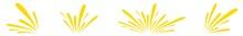 Splash Icon Yellow | Splashes | Droplets Symbol | Splashing Logo | Liquid Motion Sign | Isolated | Variations