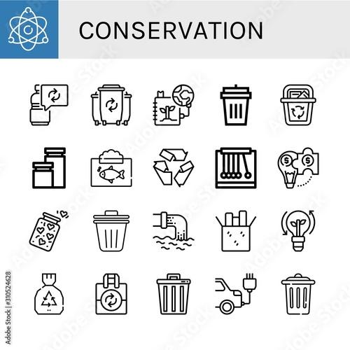 Fototapety, obrazy: Set of conservation icons