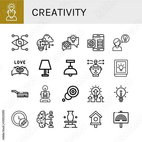 Obraz Set of creativity icons - fototapety do salonu