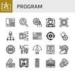 program simple icons set