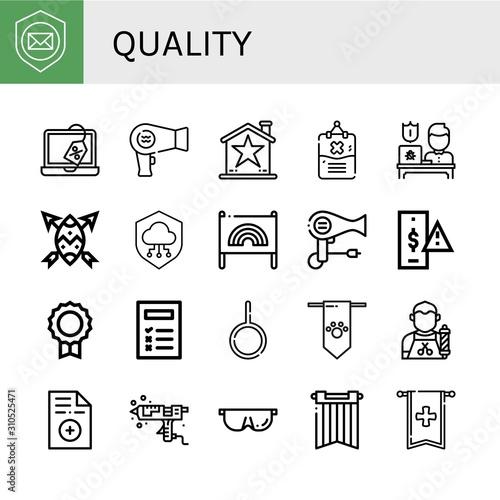 Fototapeta Set of quality icons obraz na płótnie