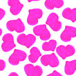 canvas print picture - bright pink hearts seamless pattern.Hand drawn graphic doodles.Childrens drawing. St Valentines day. Love and romance. For post cards, textile and wrapping paper