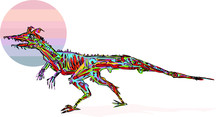 Dinasaur Colorfull Vectorel Ar...