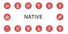Set Of Native Icons