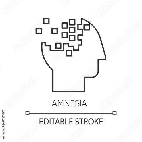 Amnesia linear icon Canvas Print