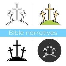 Calvary Hill Icon. Three Cross...