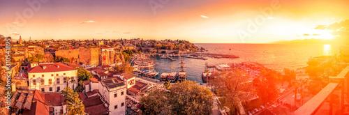 Beautiful view of the Antalya Kaleiçi Old town (Kaleici) in Antalya, Turkey Wallpaper Mural