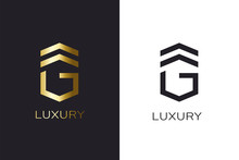 G Initial Letter Gold Style. L...