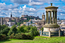 The City Of Edinburgh In Scotland On A Sunny Summer Day