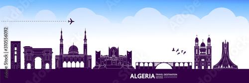 Algeria travel destination grand vector illustration. Wallpaper Mural