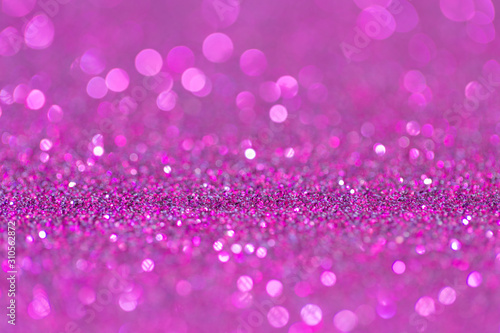 Abstract elegant pink purple glitter vintage sparkle with bokeh defocused - 310562872