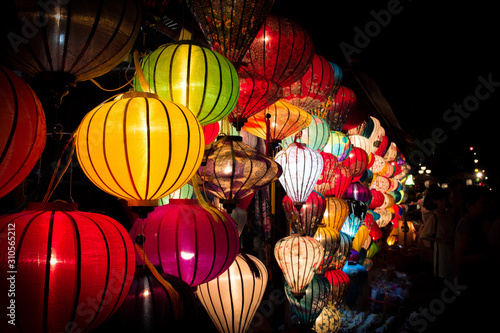 Fototapety, obrazy: Colorful night lanterns in Hoi An. Vietnam