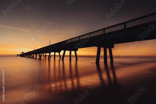 Horizontal longexposure photo of pier, Deerfield beach, Florida Fototapet