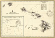 Hawaiian Islands 1896 Antique ...