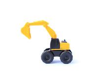 The Yellow Toy Car Excavator I...