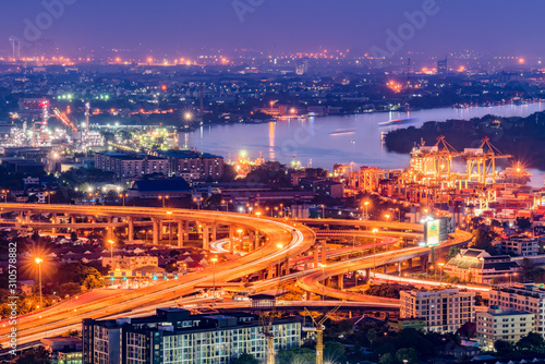City of Bangkok  where is the capital city of Thailand covering with air polluti Canvas Print