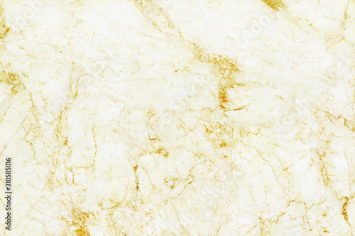 Gold white marble texture background with high resolution, top view of natural tiles stone floor in seamless glitter pattern Wallpaper Mural