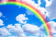canvas print picture - Rainbow in Blue