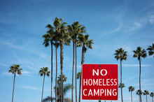 No Homeless Camping Sign With ...
