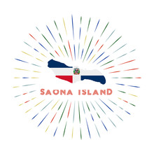 Saona Island Sunburst Badge. T...