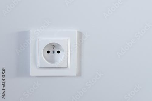 Canvastavla białe gniazdko elektryczne