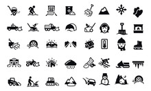Snow Removal Icons Vector Desi...