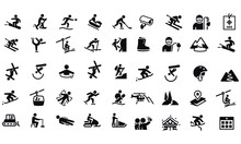 Snow Skiing Icons Vector Desig...