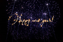 Happy New Year Sparkling Text ...