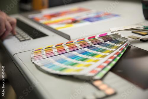 Fototapeta Offset printed machine, offset printing obraz