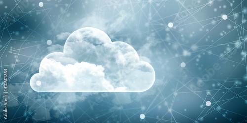 Fototapeta 2d rendering technology Cloud computing  obraz