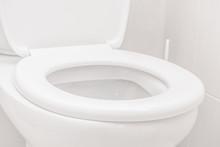 Clean Toilet In The Bathroom. ...