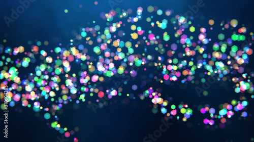 Abstract bokeh background with distortion effects. Canvas Print